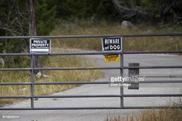 The gate of the home and property of Devin P Kelley November 6 2017 near New Braunfels Texas Kelley was the alledged gunman that killed at least 26...