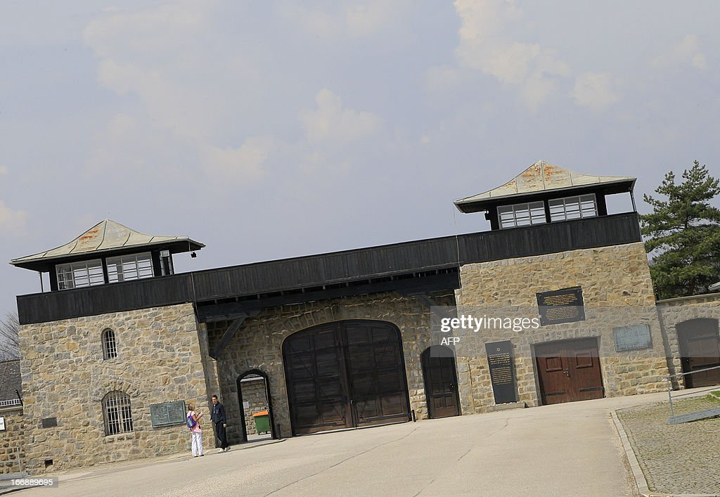 The gate with watch towers is seen at World War II concentration camp of Mauthausen, on April 17, 2013.