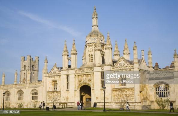 The Gatehouse King's College Cambridge university Cambridgeshire England