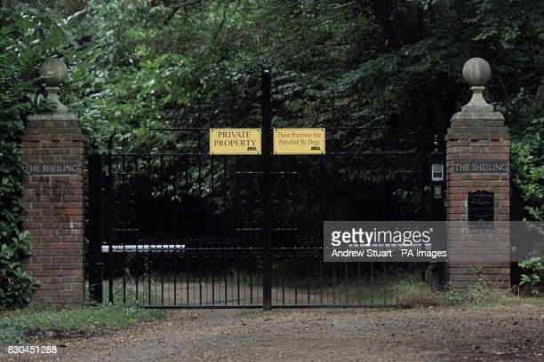 The gates leading to the marital home of Noel and Meg Gallagher in Sheiling near Chalfont St Giles Buckinghamshire The showbiz couple who have an...