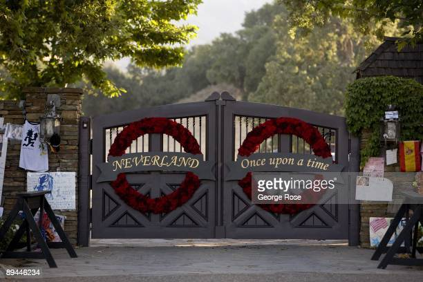 The gates to singer Michael Jackson's Neverland Ranch have been turned into a memorial as seen in this 2009 Los Olivos Santa Barbara County...