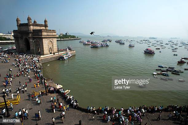 The Gateway of India in Mumbai Located on the waterfront in the Apollo Bunder area in South Mumbai and overlooking the Arabian Sea the structure was...