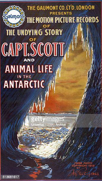 The Gaumont Co Limited London presents the motion picture records of the undying story of Capt Scott and animal life in the Antarctic
