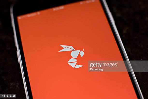 The gay dating app Hornet logo is displayed for a photograph on an Apple Inc iPhone in Tiskilwa Illinois US on Tuesday Jan 20 2015 For gay men...