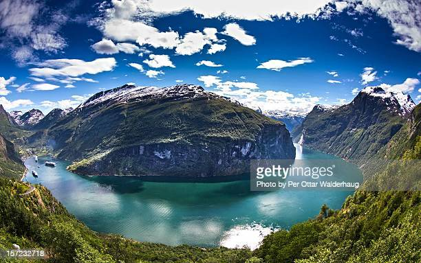 The Geiranger Fjord in Norway