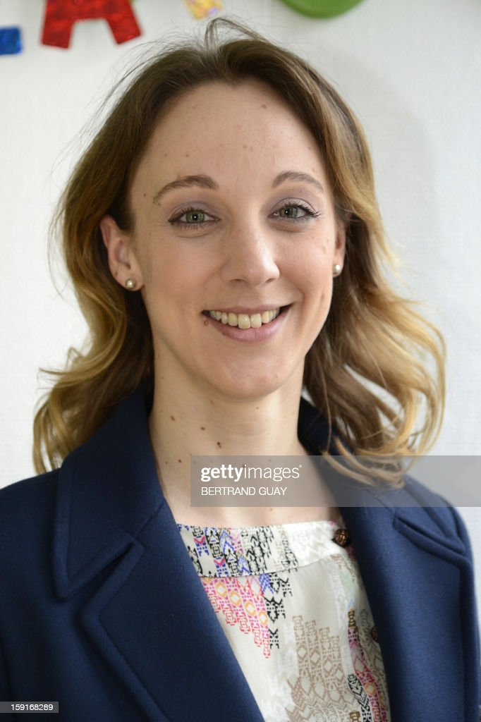 The General Delegate of the 'Hopitaux de Paris', Danuta Pieter poses on January 9, 2013 at the Andre Mignot Hospital in Le Chesnay, west of Paris, during the launch of the 'Pieces Jaunes' (Small Coins) charity campaign's 24th edition.