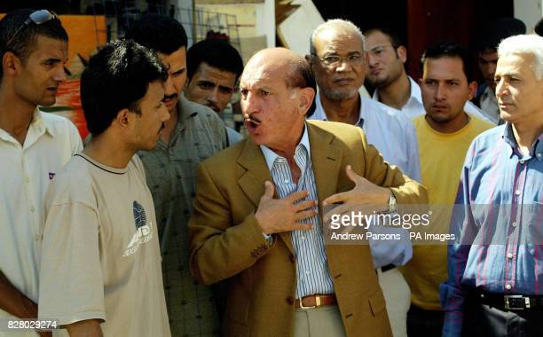 The General Major for South Sinai Monstafa Afifi visits the clean up operation at the Tiran Centre in the old Town of Sharm after it was bombed One...