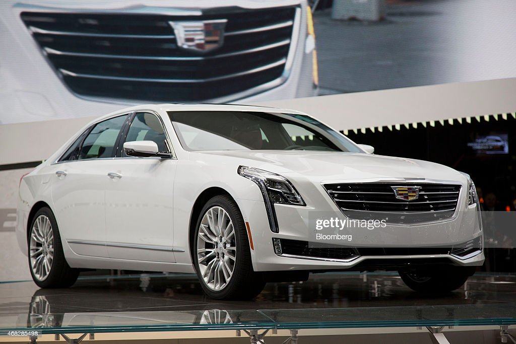The General Motors Co 2016 Cadillac CT6 luxury sedan is unveiled during the 2015 New York International Auto Show in New York US on Wednesday April 1...