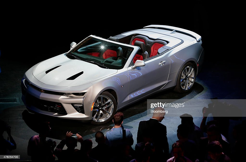 General Motors Unveils The 2016 Camaro Convertible Getty