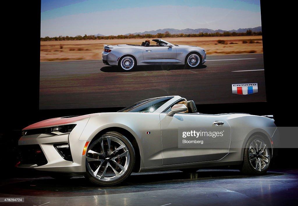 General Motors Unveils The 2016 Camaro Convertible Getty