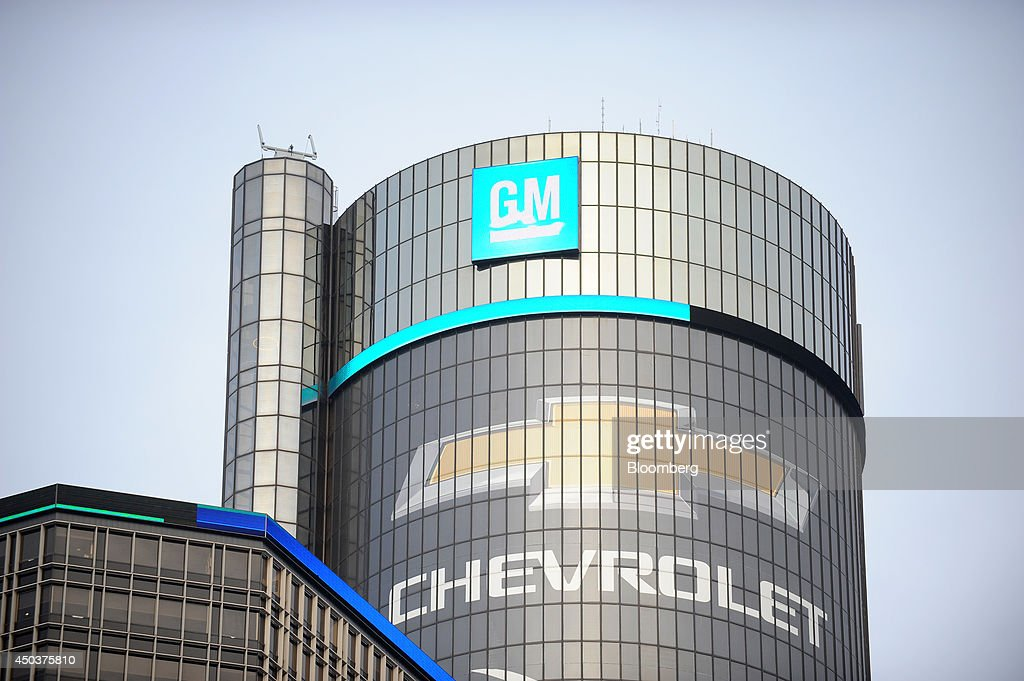 The General Motors Co Renaissance Center stands before the company's annual meeting at their headquarters in Detroit Michigan US on Tuesday June 10...