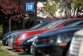 The General Motors logo is displayed at Boardwalk Chevrolet on November 9 2011 in Redwood City California General Motors reported a 12 percent...