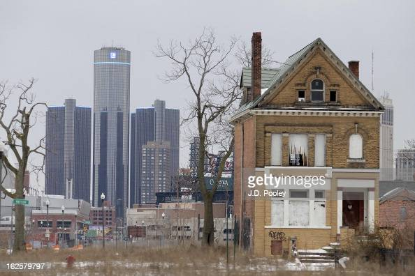 The General Motors world headquarters is seen February 24 2013 in Detroit Michigan The city of Detroit has faced serious economic challenges in the...