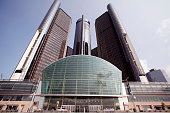 DETROIT MI The General Motors World Headquarters site of today's 2015 GM Annual Meeting of Stockholders is shown June 9th 2015 in Detroit Michigan At...
