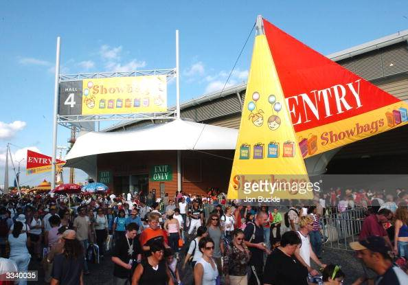 The general public queue for Showbags during the 2004 Sydney Royal Easter Show at Sydney Showgrounds April 11 2004 in Sydney Australia