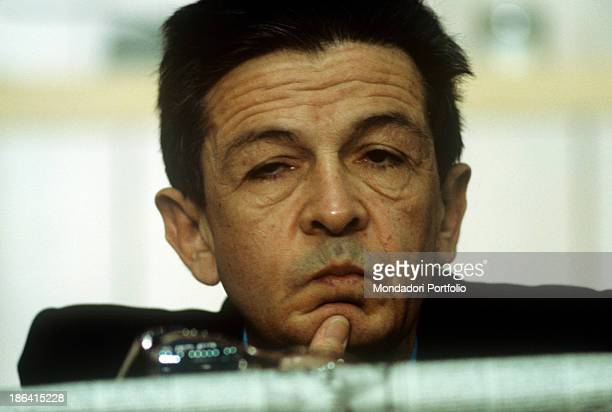 The general secretary of the Italian Communist Party Enrico Berlinguer attending the fifteenth Congress of the Italian Communist Party Rome 1979