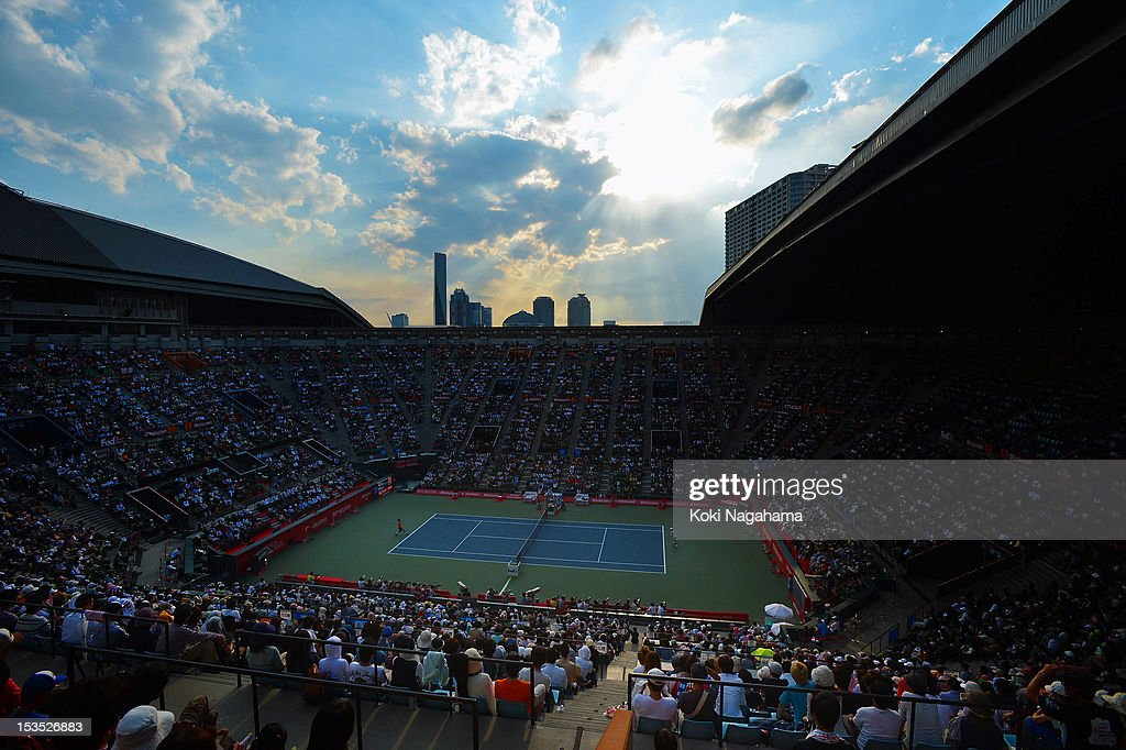 The general view during day six of the Rakuten Open at Ariake Colosseum on October 6, 2012 in Tokyo, Japan.