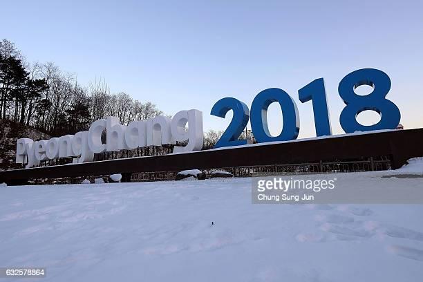 The general view of Hoenggye village ahead of PyeongChang 2018 Winter Olympic Games on January 24 2017 in Pyeongchanggun South Korea