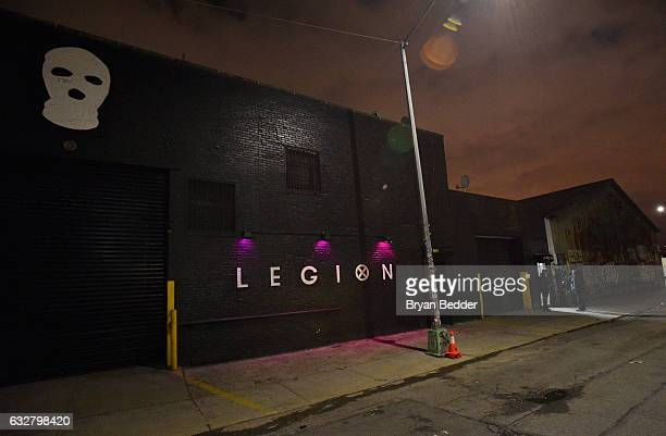 The general view of the exterior at the FX's Legion WhereHouse at Villian on January 26 2017 in Brooklyn New York