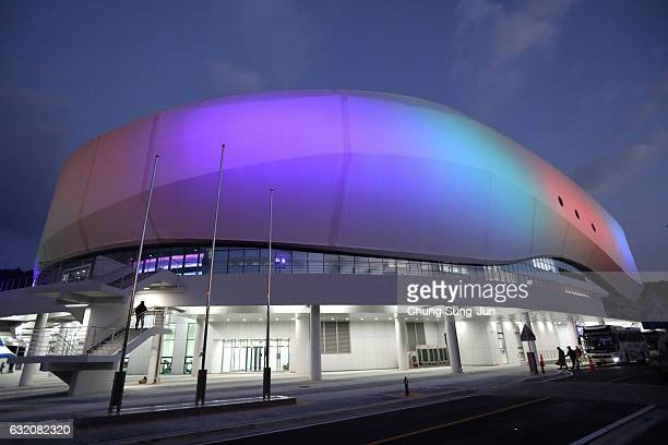 The general view of the Gangneung Ice Arena ahead of PyeongChang 2018 Winter Olympic Games on December 17 2016 in Gangneung South Korea