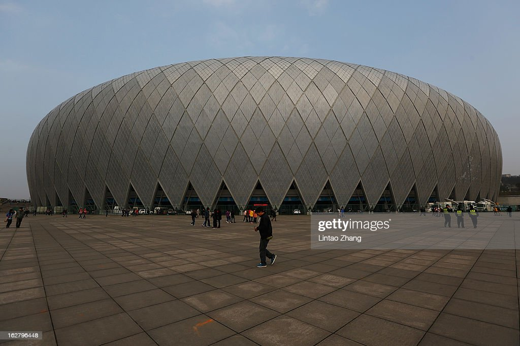 The general view of the Guiyang Olympic Sports Center before the AFC Champions League match between Guizhou Renhe and Kashiwa Reysol on February 27, 2013 in Guiyang, China.