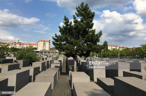 The general view of The Memorial to the Murdered Jews of Europe also known as the Holocaust Memorial designed by architect Peter Eisenman and...