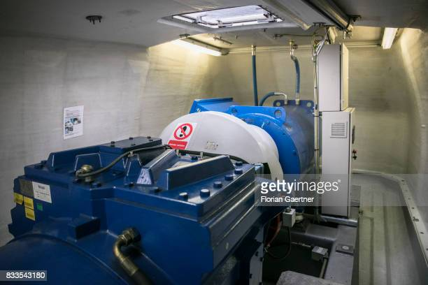 The generator of wind power station is pictured on August 04 2017 in Bernsdorf Germany