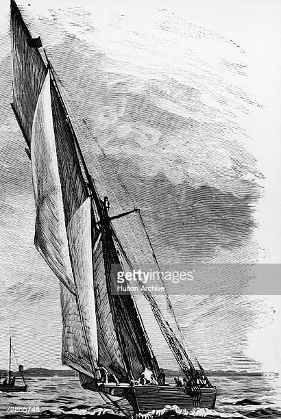 The Genesta unsuccessful challenger in the fifth America's Cup sailing race 1885