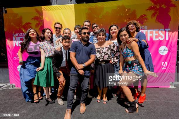 The 'Gentefied' Cast and Crew including Aaliyah Williams Alicia Sixtos Art Bonilla Eduardo Roman Jennifer Lorenzo Josefina Lopez Laura Patalano Linda...