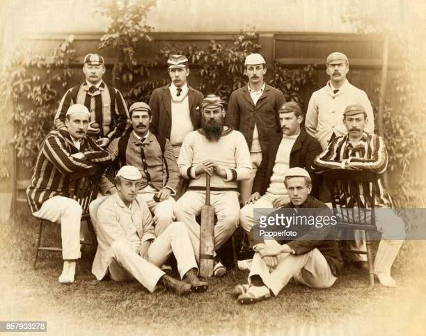 The Gentlemen of England cricket team prior to their match against the Australian cricket team during their tour of England at the Kennington Oval in...