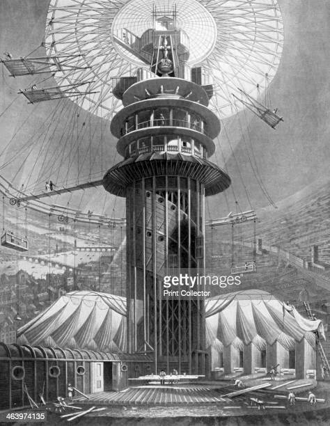 The Geometrical Ascent to the Galleries in the Colosseum Regent's Park London 1823 Regent's Park Colosseum was a vast circular exhibition hall with a...