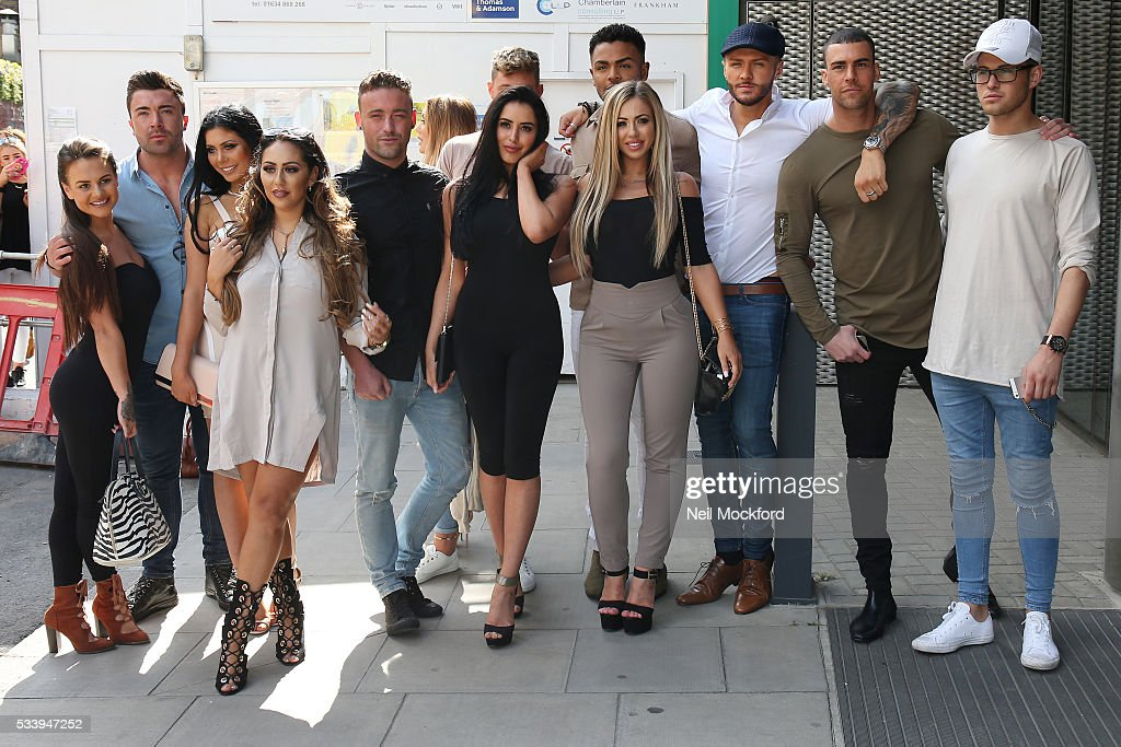 The Geordie Shore Cast at MTV HQ in Camden to celebrate the Geordie Shore 5th Birthday Party on May 24, 2016 in London, England.