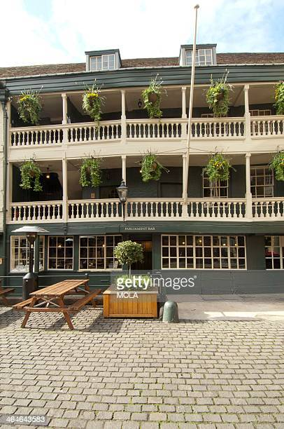 The George inn in Borough High Street London actually dates from the 1670s but its one remaining galleried courtyard side is typical of the inns of...
