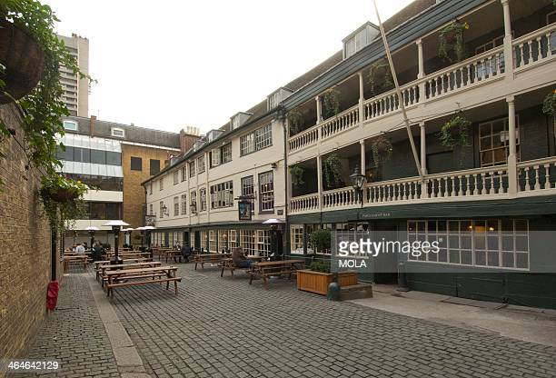 The George inn which dates from the 1670s its one remaining galleried courtyard side is typical of the inns of the Shakespearean period London