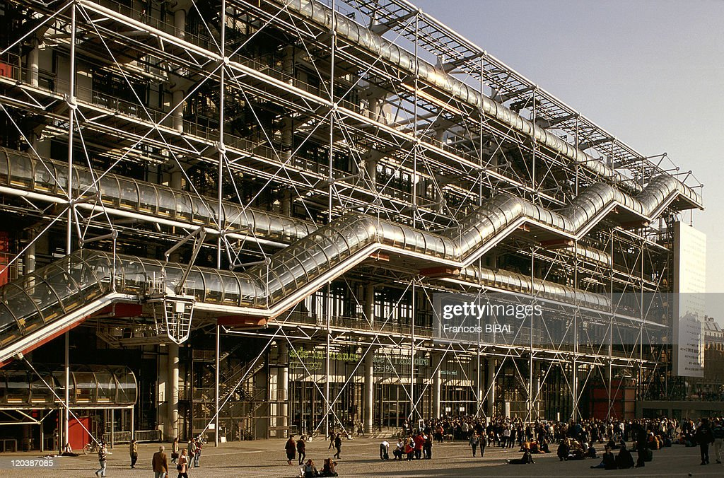 The Georges Pompidou Center in Paris France