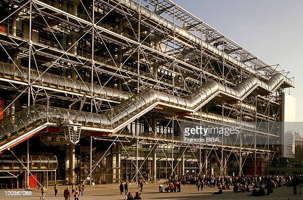 The Georges Pompidou Center in Paris France
