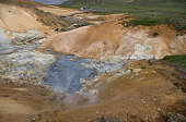 The geothermal area Krysuvik is situated on the Reykjanes peninsula in Iceland It is in the south of Reykjanes in the middle of the fissure zone on...
