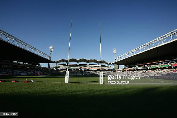 The Gerland stadium is pictured before the rugby union World Cup group D match between Argentina and Georgia 11 September 2007 in Lyon eastern France...
