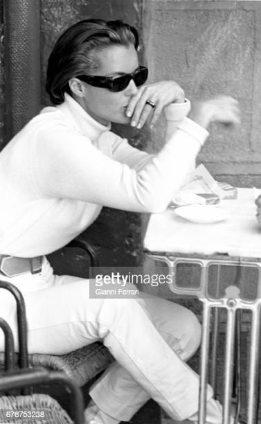 The German actress Romy Schneider in Madrid Spain