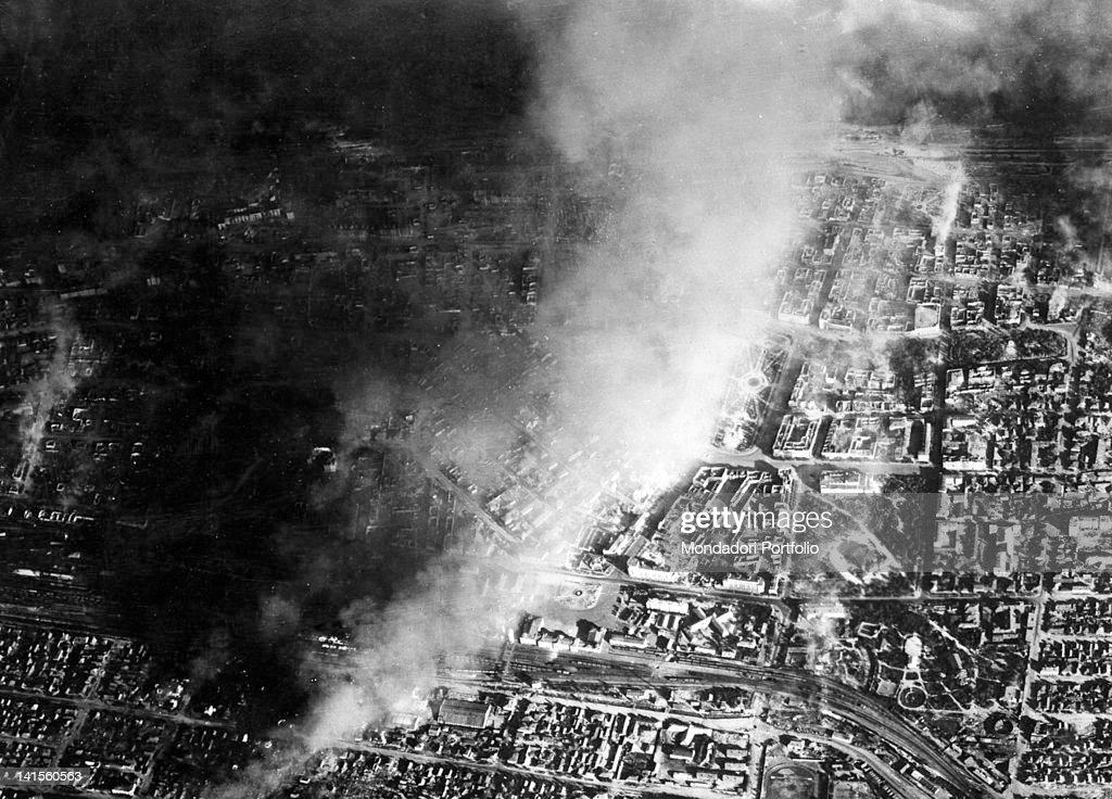 The German Army bombing the industrial district of Stalingrad today Volgograd Stalingrad October 1942