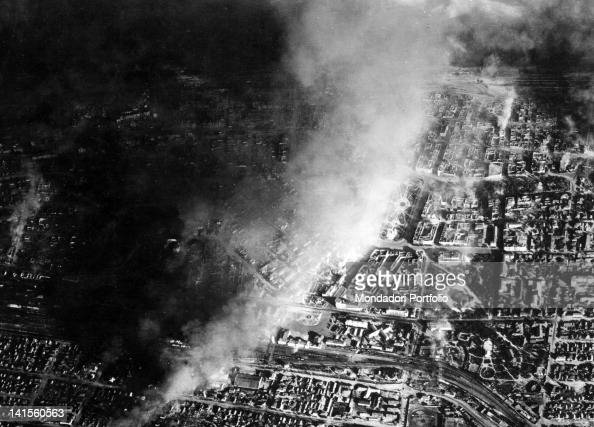 The German Army bombing the industrial district of Stalingrad today Volgograd Stalingrad October 1942
