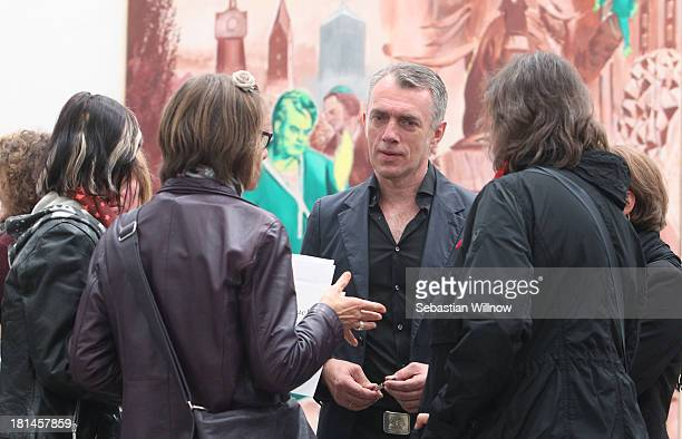 The German artist Neo Rauch during the Autumn Gallery Tour in the art gallery 'EigenArt' at the Spinnerei on September 21 2013 in Leipzig Germany