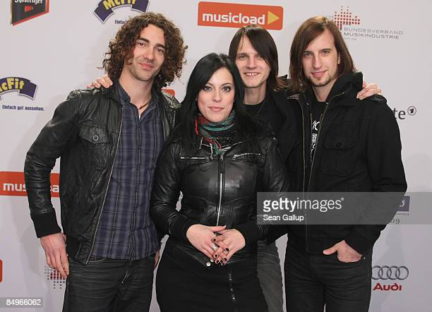 The German band Silbermond attend the 2009 Echo Music Awards at the O2 Arena on February 21 2009 in Berlin Germany