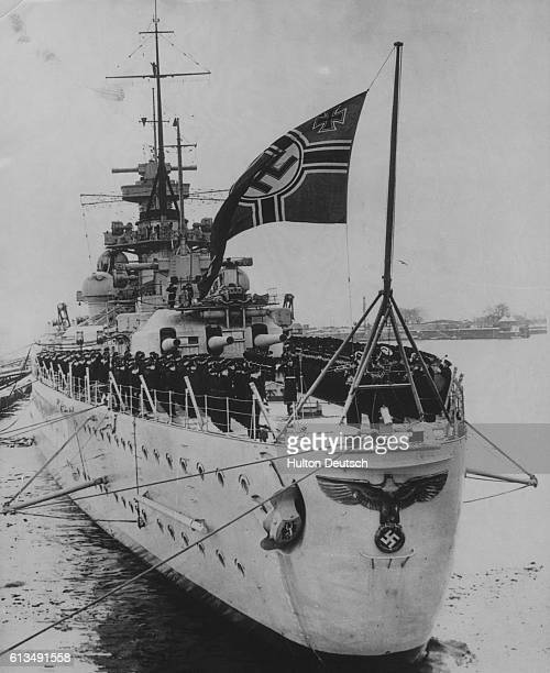 The German battlecruiser Scharnhorst was defeated by the British warship the Renown in an engagement in stormy weather north of Narvik Norway April...