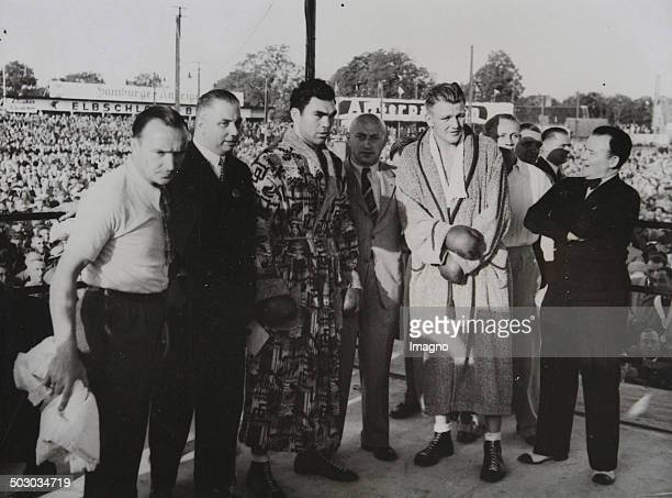 The German boxer Max Schmeling before his Victorious fight against Walter Neusel in Hamburg 1934 Photograph