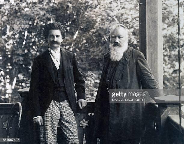 The German composer Johannes Brahms with the Austrian composer Johann Strauss Vienna Historisches Museum Der Stadt Wien