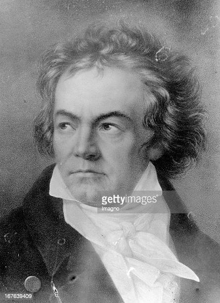 The german composer Ludwig van Beethoven Portrait Der deutsche Komponist Ludwig van Beethoven Portrait