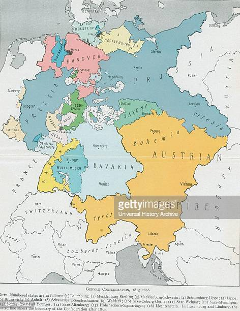 The dominant states are Austria and Prussia