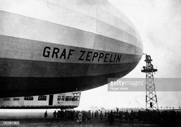 The German dirigible Graf Zeppelin circa 1928