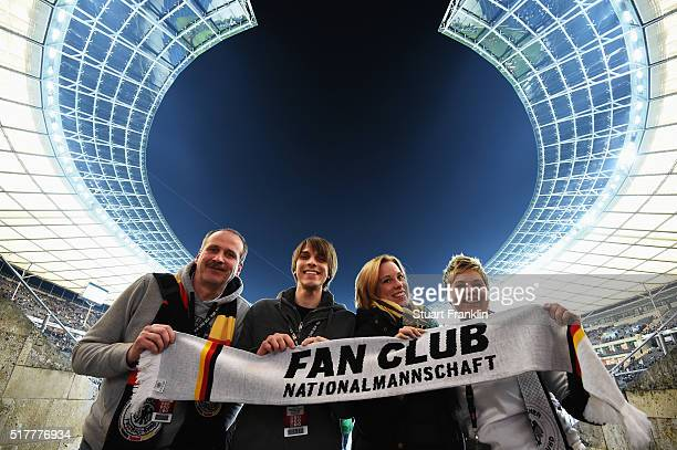 The German Fan Club 'Fantastic' tour prior to the international friendly match between Germany and England at Olympiastadion on March 26 2016 in...